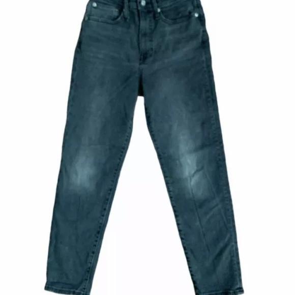 Madewell Mom Jean Black High Waist Denim Jeans 24